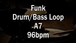 Funk Drum-Bass Loop A7 96bpm