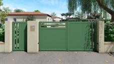 CLAUSTRALU battant et portillon assymetrique vert