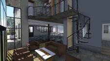 Escalier et garde corps en acier sur Antibes