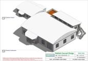 Mise en plan d'un bâtiment industriel pour agrandissement 3D volume