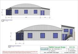 Mise en plan d'un bâtiment industriel pour agrandissement vue EST