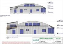 Mise en plan d'un bâtiment industriel pour agrandissement vue OUEST