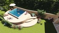 Création plages pour bassin à Grasse