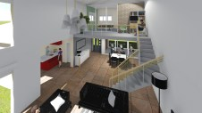 Nouveau Salon avec escalier optimisé aux Arcs sur Argens