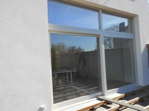 baie vitrée sur terrasse