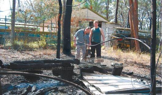 Hawkesbury Heights property damaged by bushfire