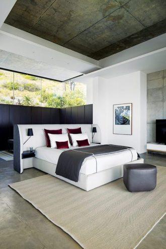 Cherche Midi bed, Trilogie ottoman & Jean Paul Gaultier bed cover – Roche Bobois.