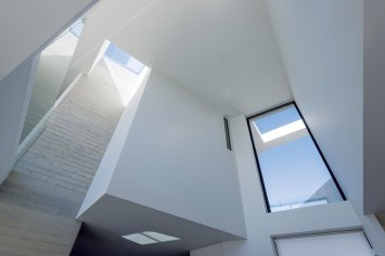 Inside surfaces are clean and contemporary