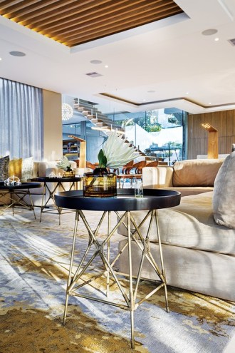 The interior scheme throughout could be seen as a concession to barefoot luxury,