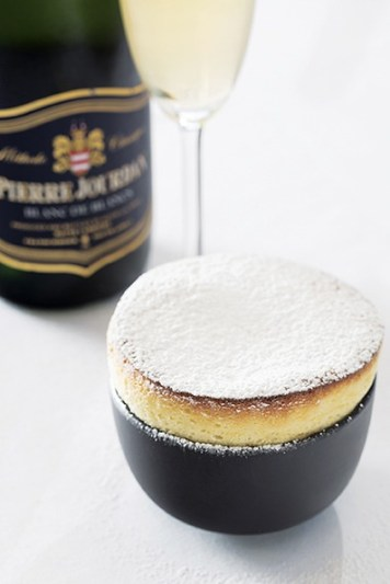 Haute Cabriere Cellar Restaurant - Summer souffle with Pierre Jourdan Blanc de Blanc (HR)