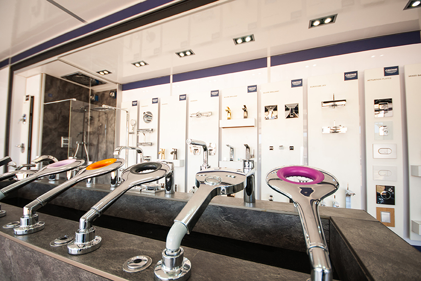 Grohe Dawn Water Technology mobile showroom