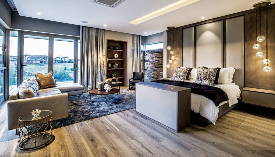 Most bedrooms have pendant bedside lights with wireless remote controlled switches; the main bedroom has a TV lift at the bed end.