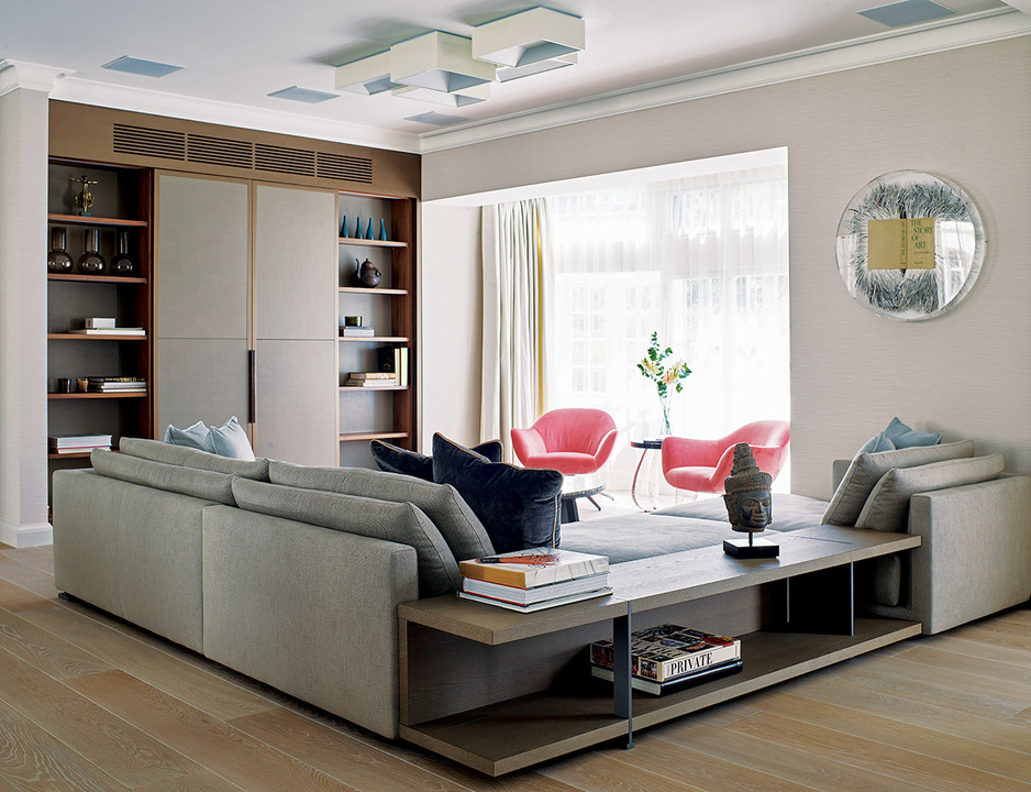 9 - The living area, with L-shaped Bristol sofa, sits alongside the dining area to the rear of the property