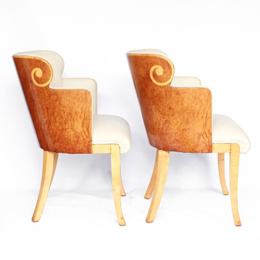 HR JEROEN MARKIES ART DECO - pair of Harry & Lou Epstein armchairs (2)