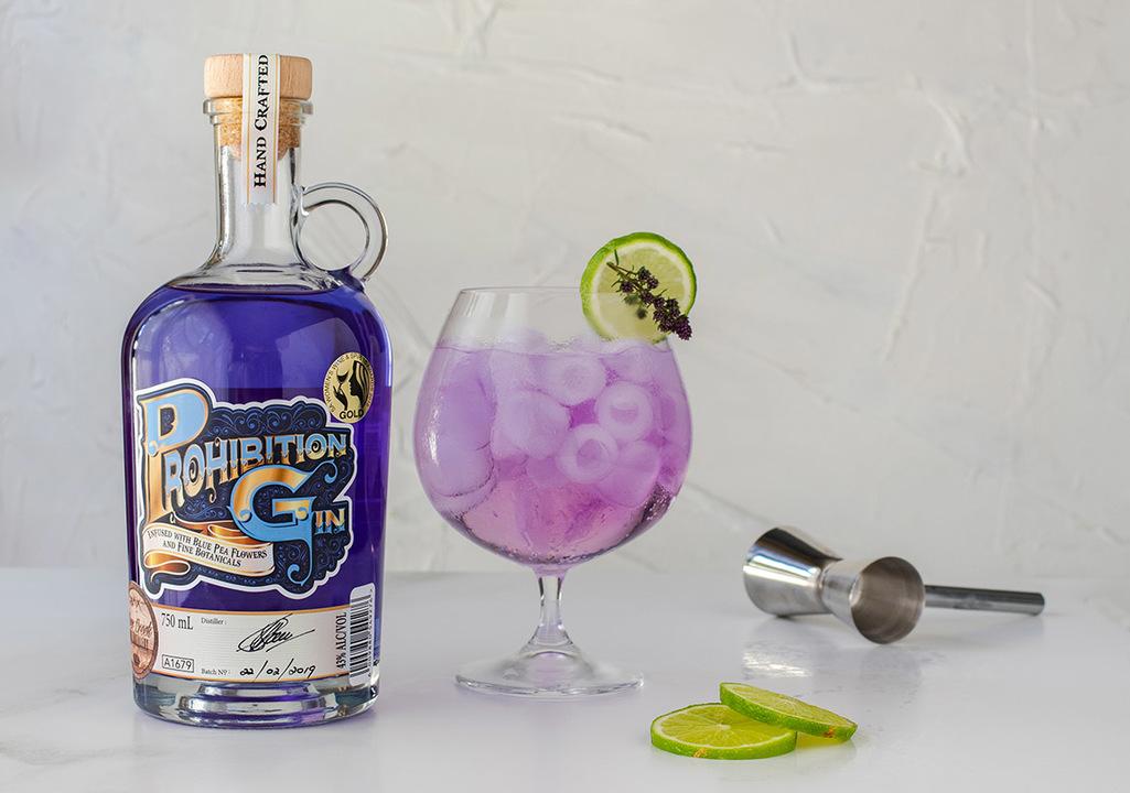 Prohibition Blue Gin