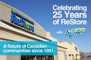 Swiffer helping celebrate 25 years of ReStores