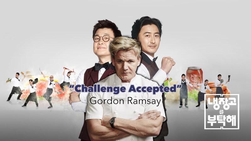 Gordon Ramsay appearing on Korean TV Show