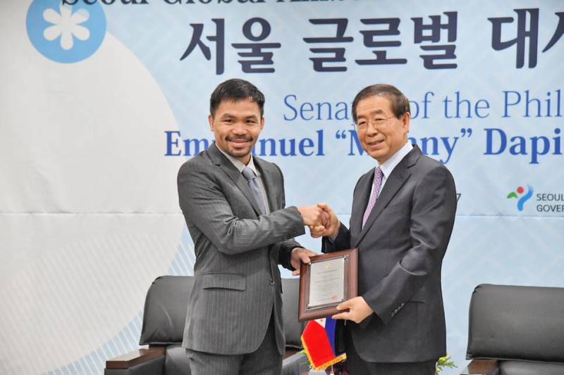 "Manny Pacquiao said, ""I am planning to visit Korea more frequently"""