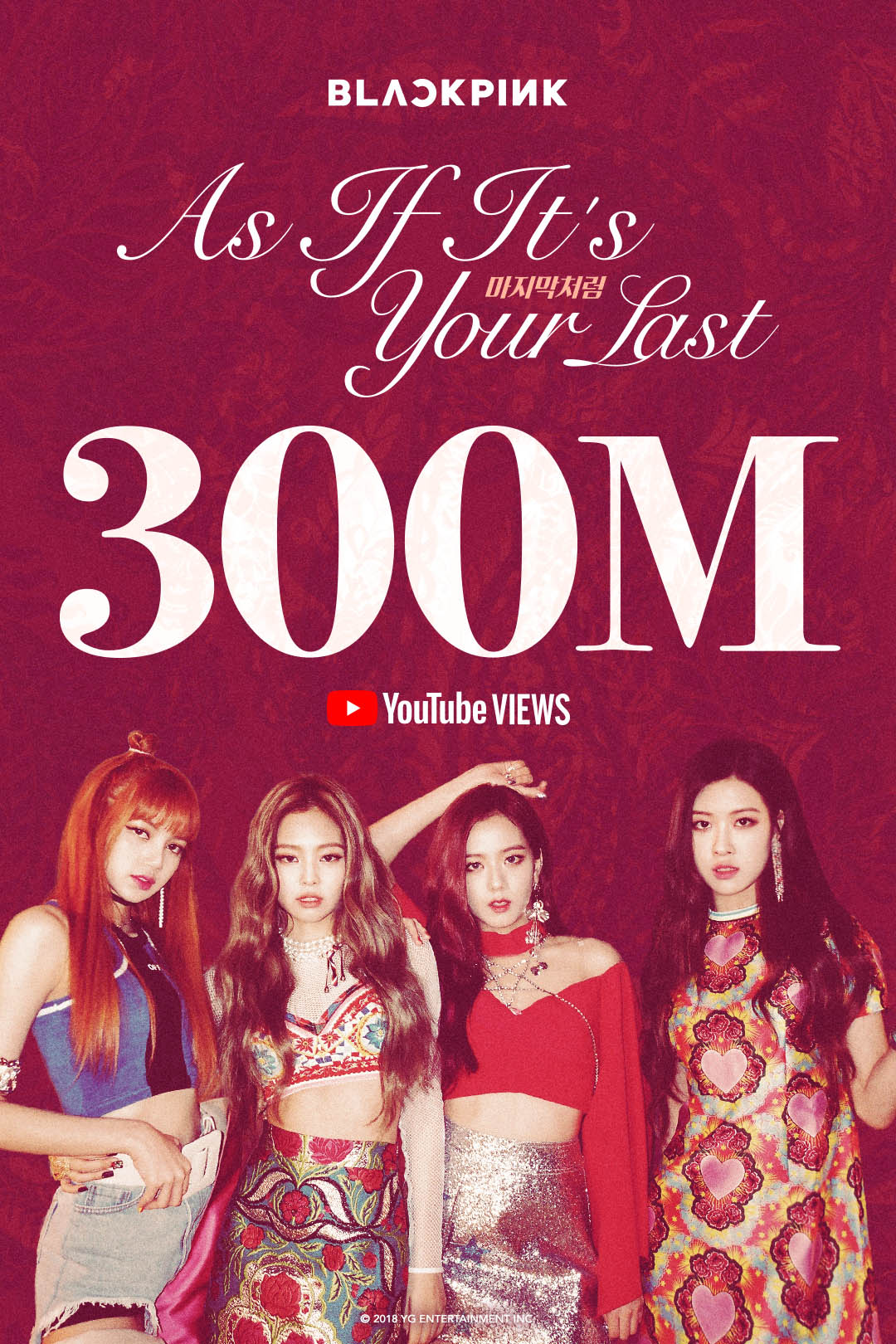 Black Pink's 'As If It's Your Last' music video hits 300 million Youtube views