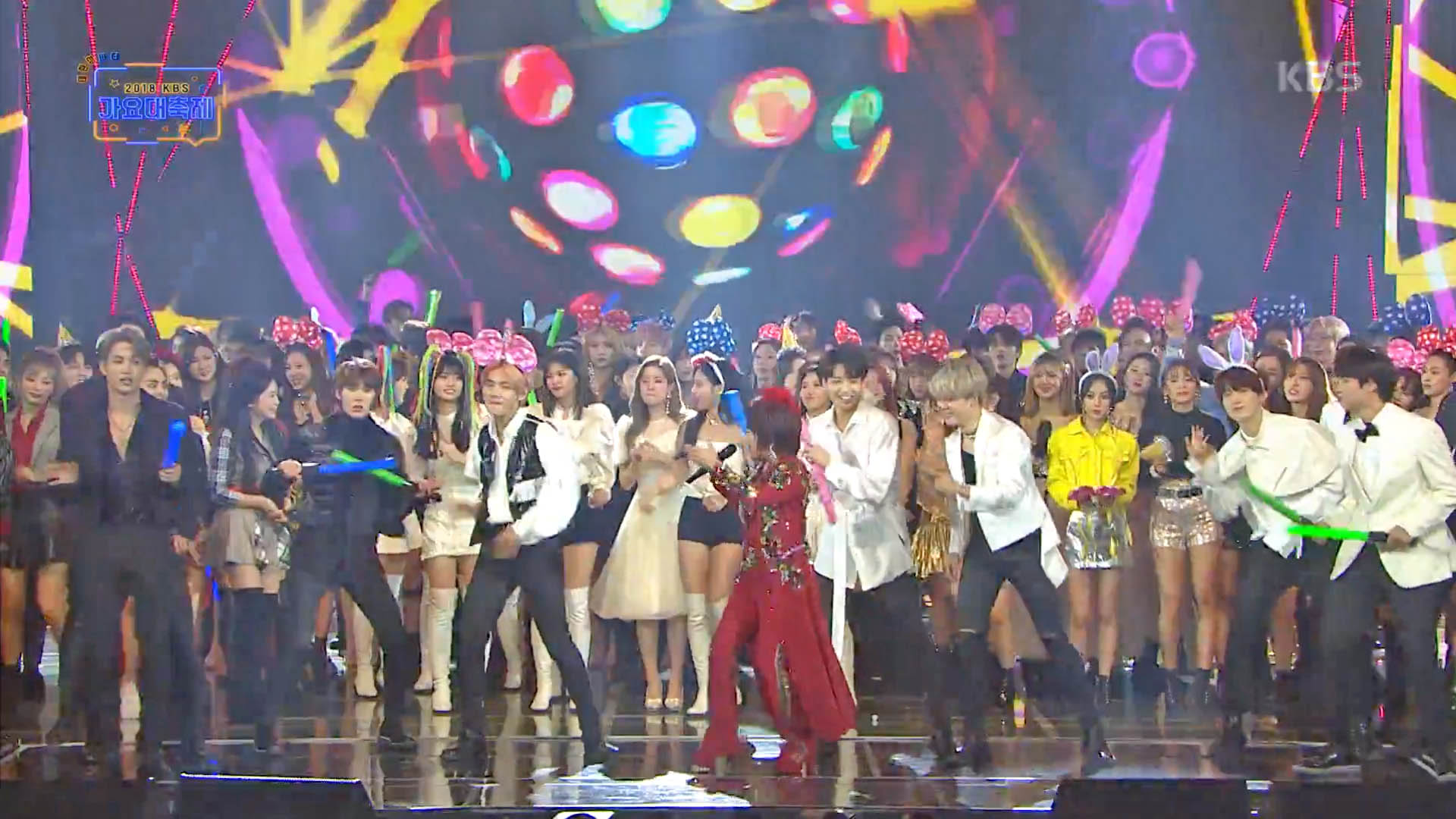 BTS became backup dancers for Kim Yeon Ja's Amor Fati on the