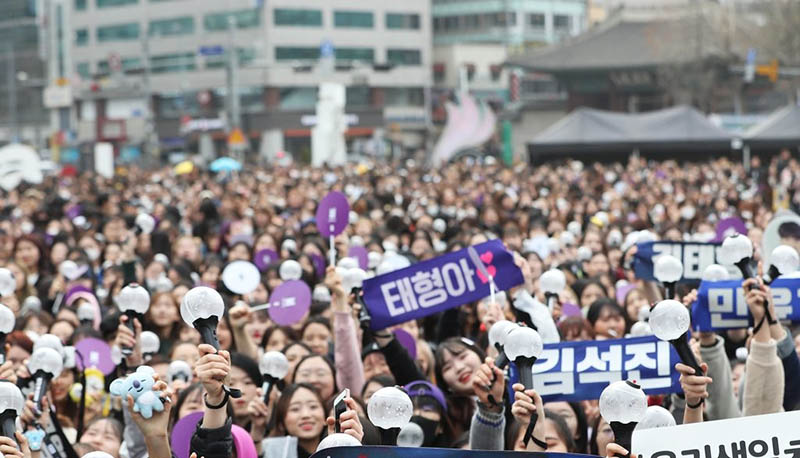 BTS held an event with 10,000 fans today