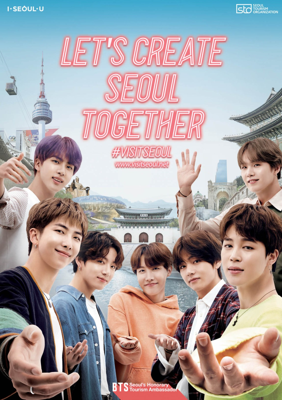 """Let's Create Seoul Together"" BTS will Promote Seoul with Seoul Tourism Organization"