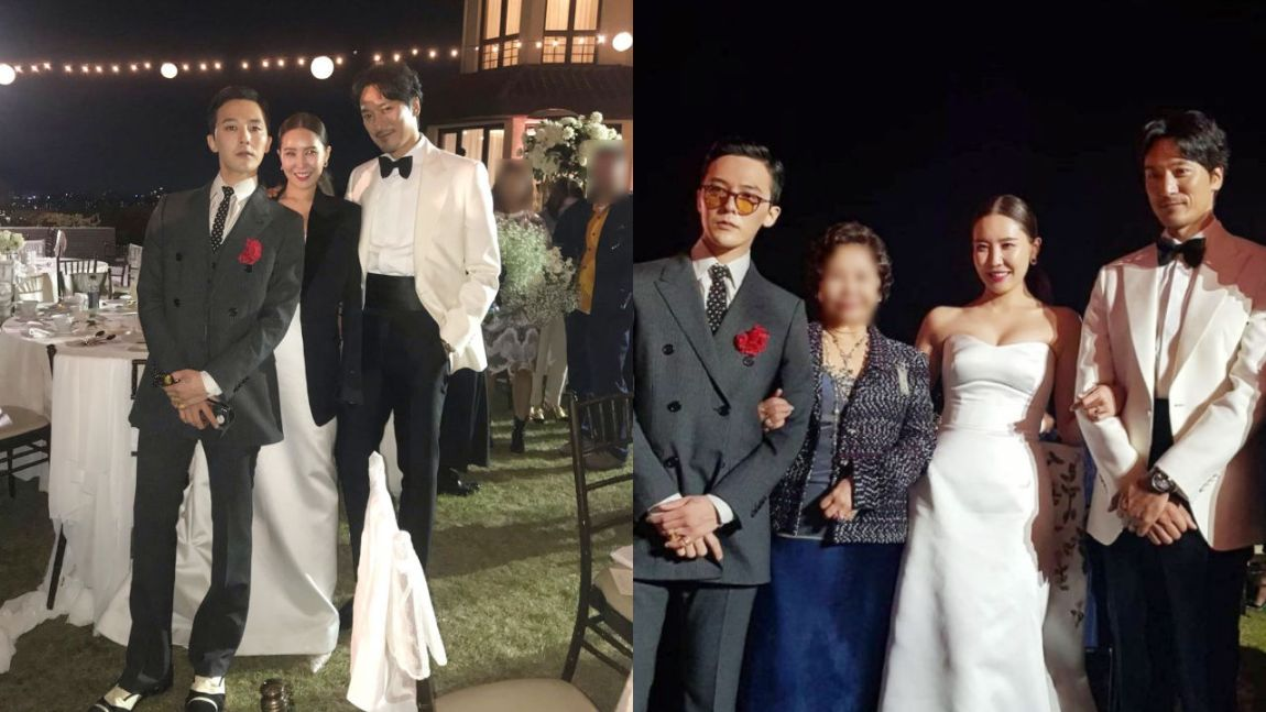 G-Dragon spotted at his sister's wedding!
