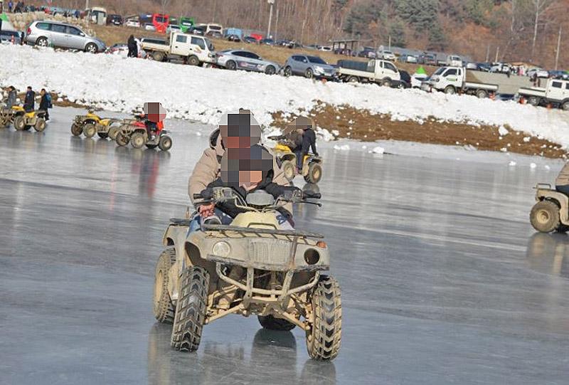 winter festival ice atv