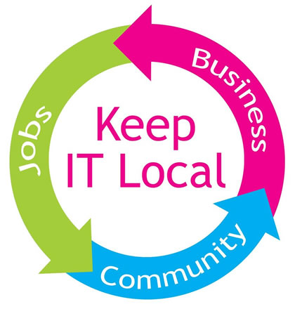Keep it local cycle: jobs, business, community.