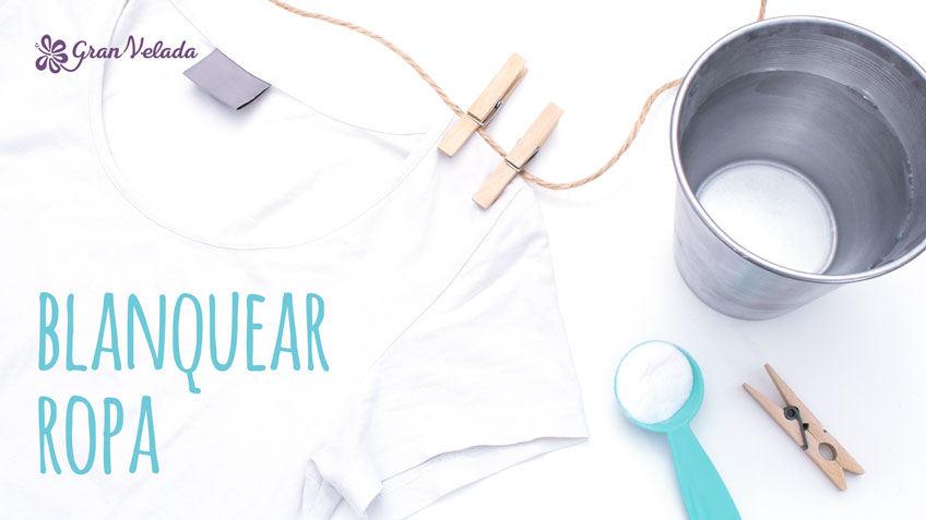 Como blanquear ropa en casa