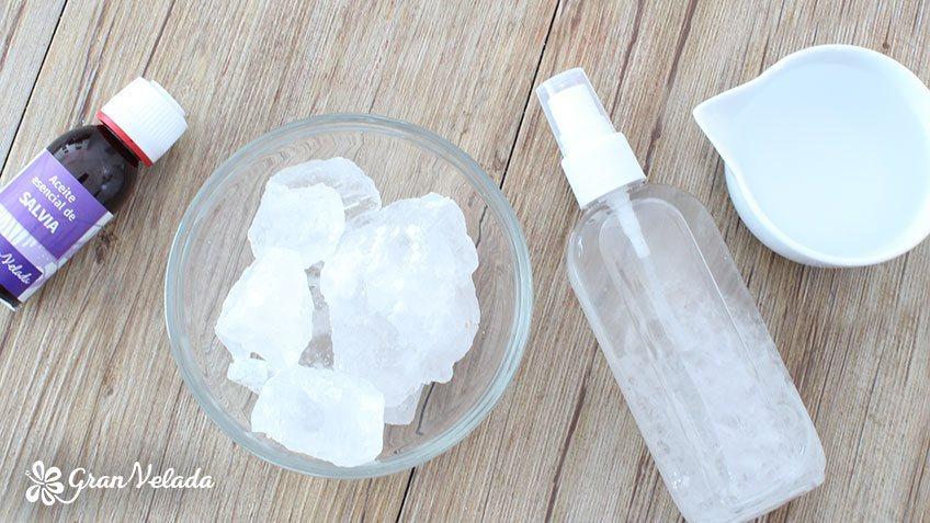 Desodorante natural alumbre
