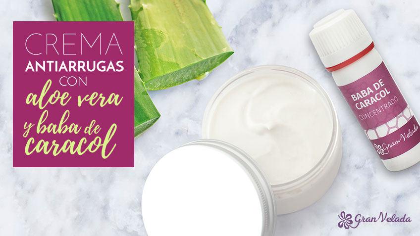 Tutorial para hacer crema antiarrugas con aloe vera y baba de caracol casera