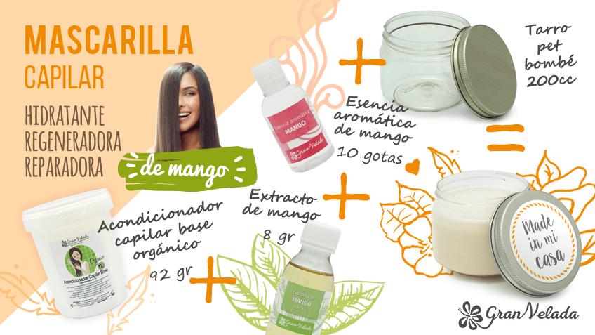 Hacer mascarilla hidratante de mango para el pelo