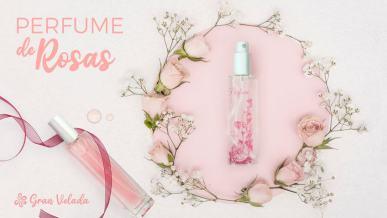 Perfume de rosas casero