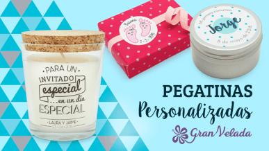 Pegatinas personalizadas para detalles de invitado