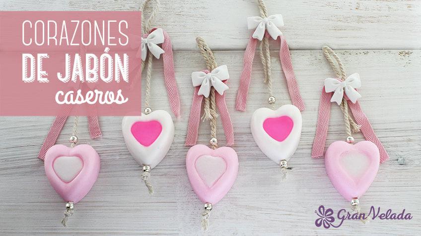 Como hacer detalles de jabón en forma de corazon caseros y economicos
