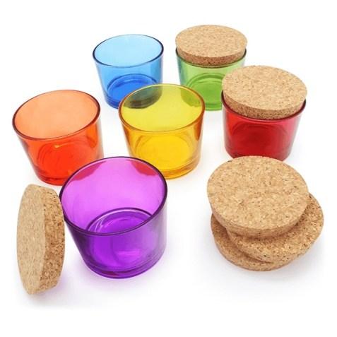 Vasos de colores para fiestas