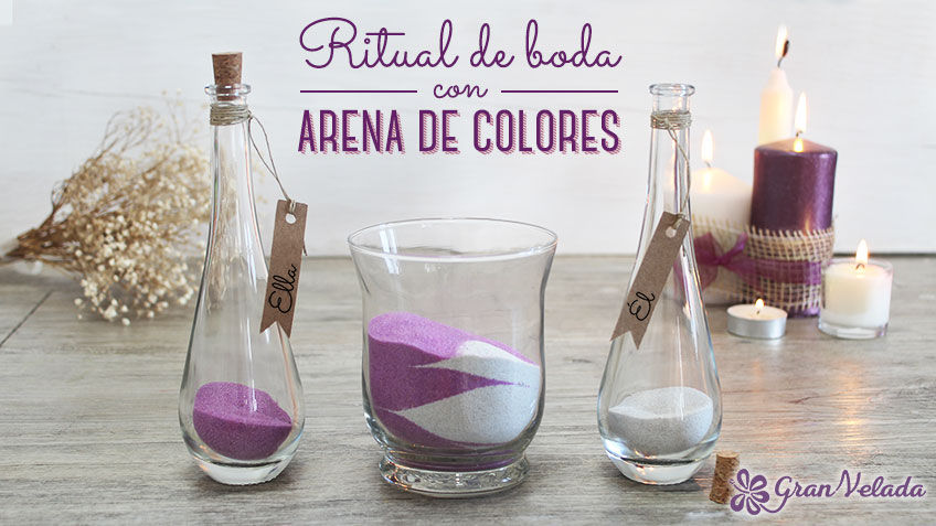 Ritual de boda con arena de colores