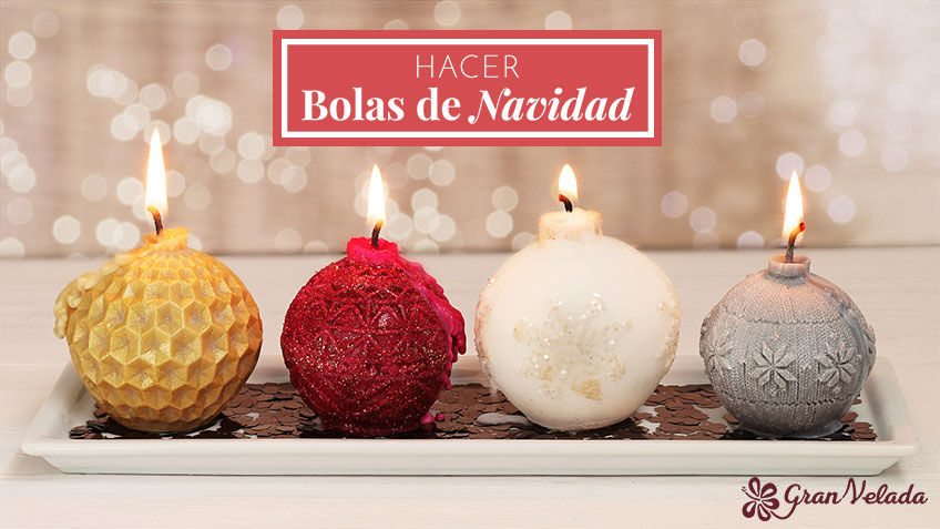 Tutorial para hacer velas de bolas de navidad en casa