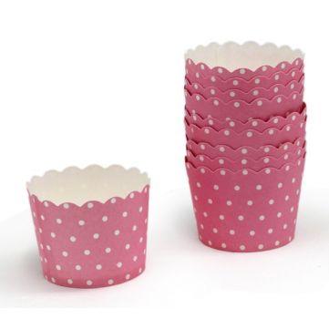 Cupcakes de topitos rosas