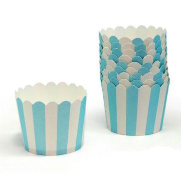 Cupcakes de rayas azules