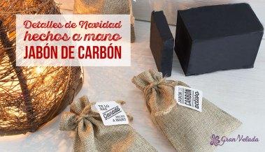 Tutorial para preparar los detalles de navidad hechos a mano de jabon de carbon con video y paso a paso