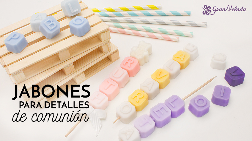 Tutorial para aprender hacer Jabones para detalles de Comunion de diferentes formas, colores y aromas con vídeo y paso a paso