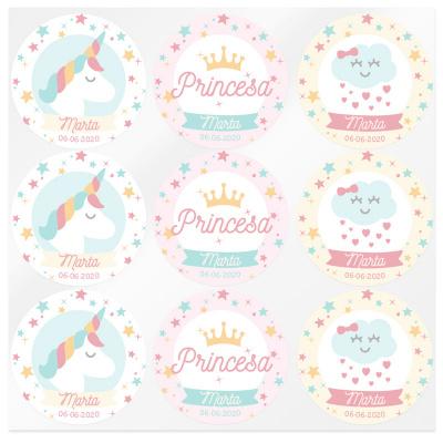 Pegatinas personalizadas de unicornios