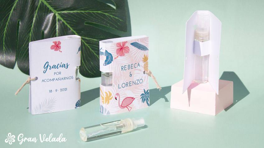 Perfumes miniatura para boda