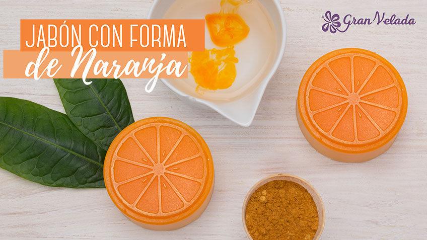 Aprende como hacer jabon con forma de naranja de glicerina con vídeo