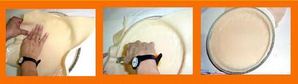 Paso 3 Hacer jabones con forma de tarta de Merengue