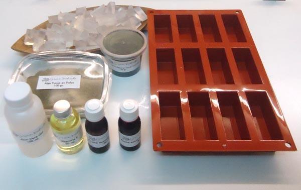 Materiales para hacer jabon de Alga Fucus y Clorofila.