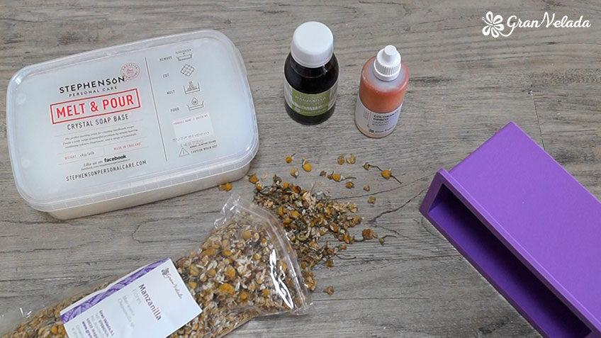 Materiales para hacer jabon de camomila