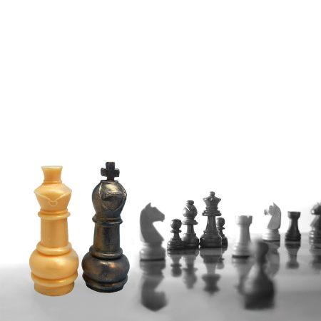 Receta para hacer jabón conr forma de figuras de ajedrez